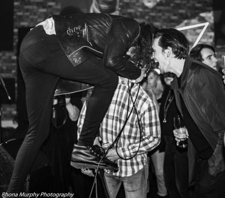 BREED's Jake & False Heads' Barney at the launch party, 11/17 (by Rhona Murphy)