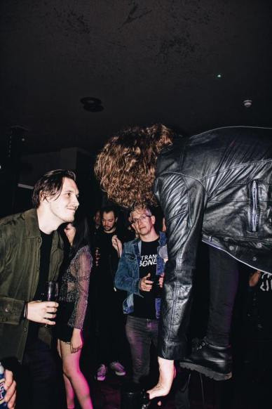 Barney (False Heads), Jake (BREED), and Alan Wells...iconic, at the launch party, 11/17 (by Mollie Yates)