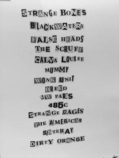 Issue One Band List